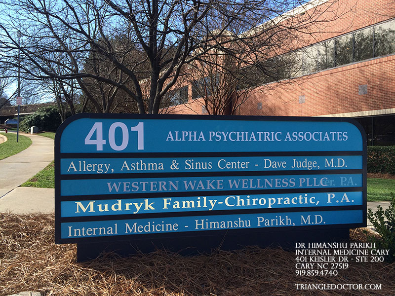 Internal Doctor - Dr. Himanshu Parikh Office in Cary NC